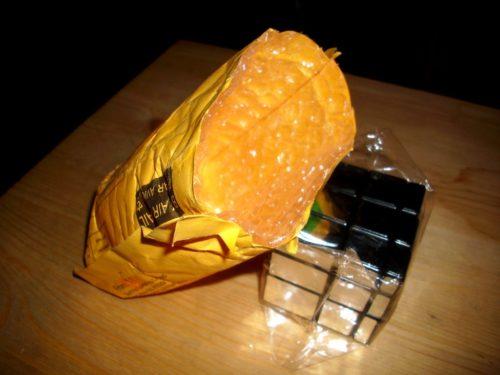 Eine typische chinesische Gadgetverpackung, hier mit Mirror Cube.