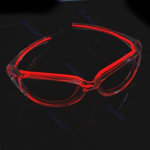 Neon-Brille Rot