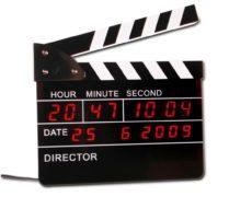 Filmklappe Wecker