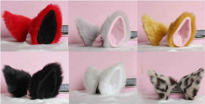 Katzenohren zum Anstecken