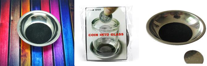 Zaubere Eine Münze Durch Den Boden Eines Glases Ab 264