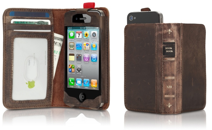 bookbook leder iphone case tasche gadget