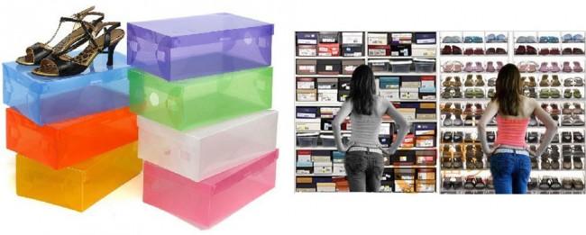 ordnung im schrank 5 transparente schuhschachteln f r 7 51 inkl versand. Black Bedroom Furniture Sets. Home Design Ideas