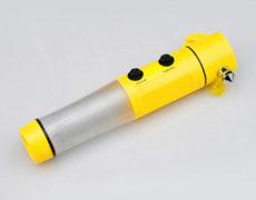 Der Multifunktionshammer in gelb auf grauem Untergrund