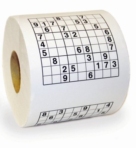 Sudoku Toilettenpapier Rolle
