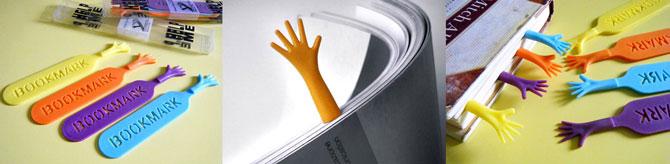 bunte Hand-Lesezeichen für Bücher