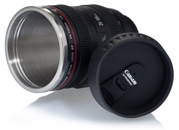 Canon Objektiv Thermobecher mit Gewinde im Inlay