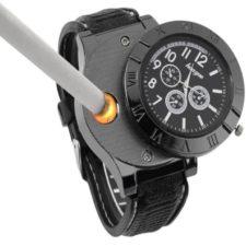 Feuerzeug-Uhr Schwarz