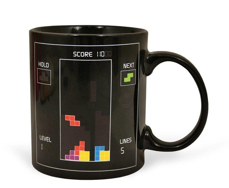 Hitzesensitive Kaffeetasse mit Tetris