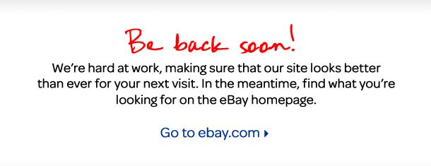 eBay: back soon?