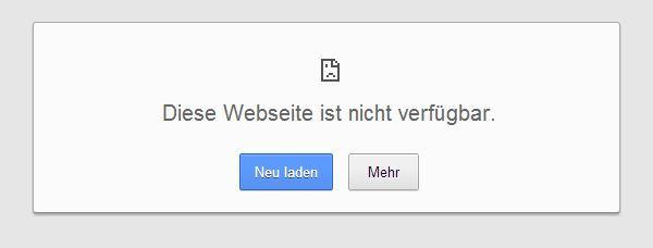 Zur Zeit ist eBay nicht zu erreichen
