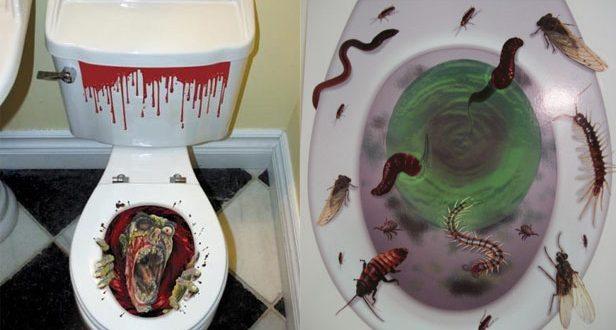 F 252 R Halloween Abgefahrene 3d Aufkleber F 252 R Die Toilette