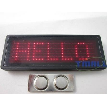 LED Namensschild mit Lauftext