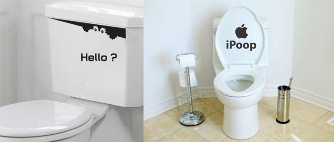 toilette-aufkleber