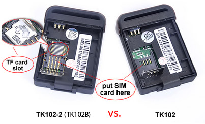 Unterschiede: TK102 & TK102B (bzw. TK102-2)