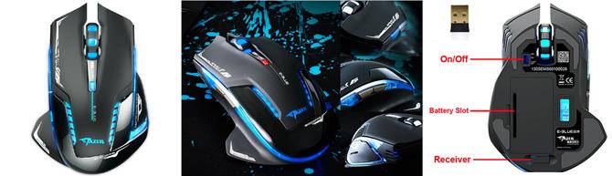 Kabellose 2,4 GHz Gaming Maus für 13,77€