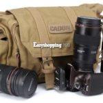 Stilvolle Kamerataschen aus Leinenstoff mit gepolsterten Fächern ab 21,66€