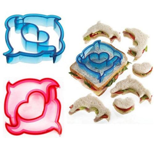 Delfin-Ausstechformen für Toasts