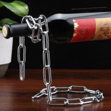Weinflaschenhalter schwebende Kette