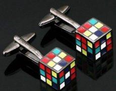 Rubiks-Cube-Manschettenknöpfe