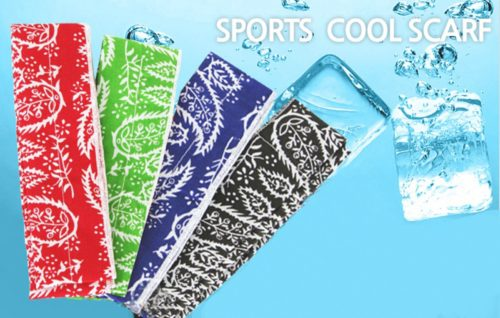 New-Brand-ICE-COOL-Cooling-SCARF-Summer-Neck-cooler-Soak-In-Water-&-Keeps-2