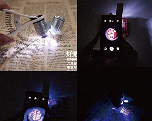 Smartphone Mikroskop Clip im Einsatz