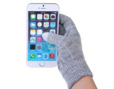 Touchscreen-Handschuhe in Benutzung