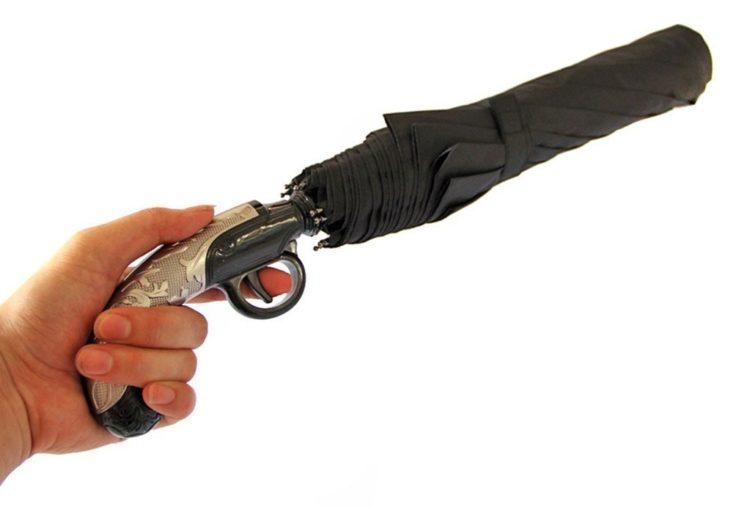 Regenschirm Pistole
