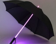 Lichtschwert Regenschirm