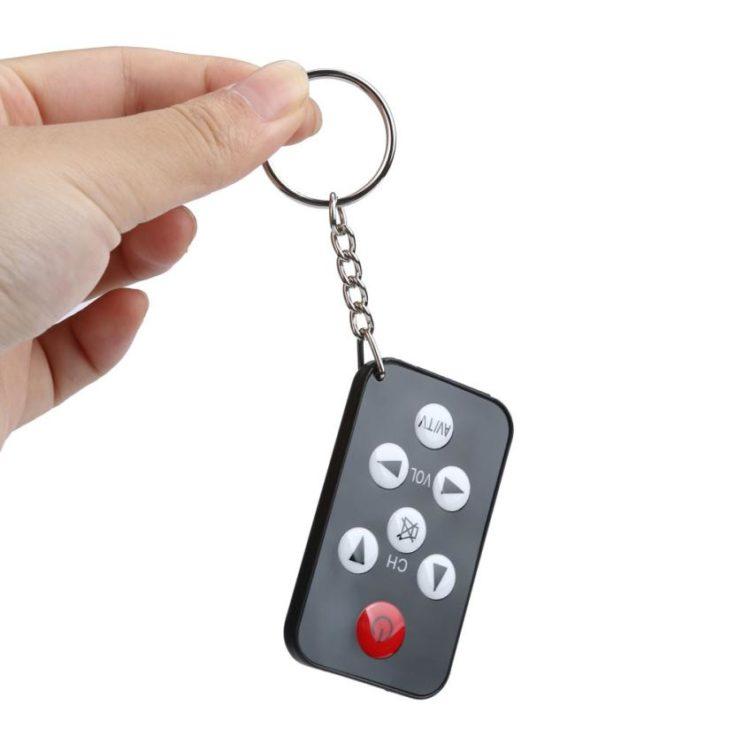 Die mini Universalfernbedienung mit Schlüsselring.