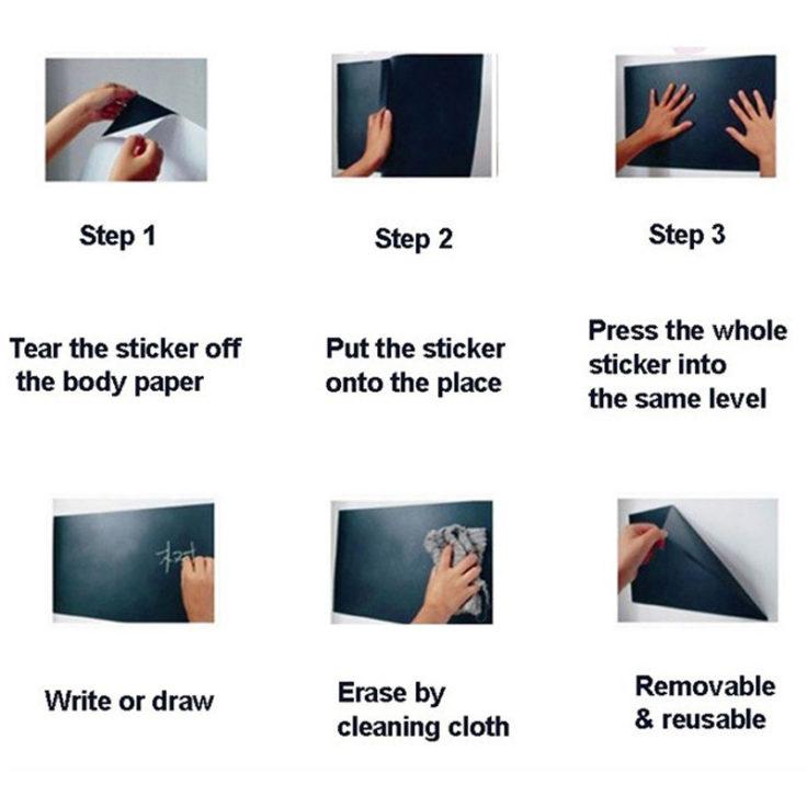 Tafelfolie Anleitung