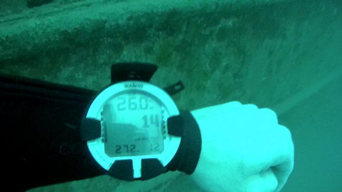 Das Case soll bis zu 40m Wasserdicht sein - wir haben es bis 27,2m geschafft :)