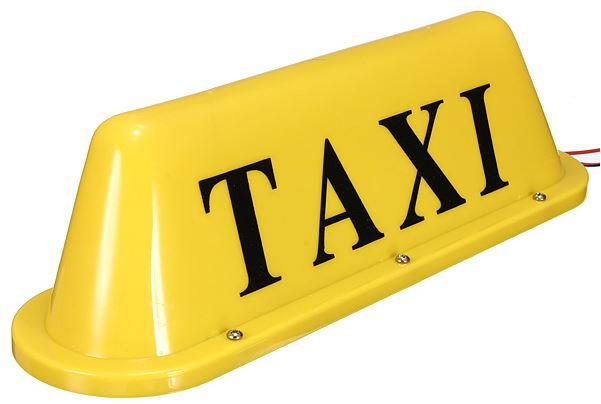 das wtf gadget zum sonntag led taxi schild f rs auto ab. Black Bedroom Furniture Sets. Home Design Ideas