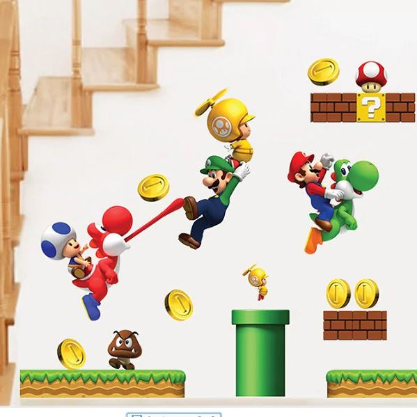 Super Mario Wandsticker