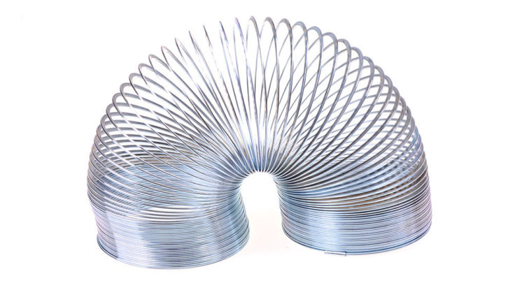 Regenbogen Spirale aus Metall