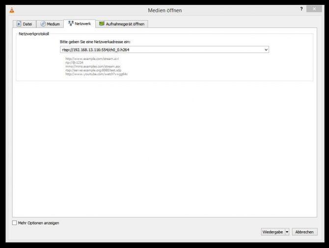 So einfach kann der Stream mit VLC empfangen werden