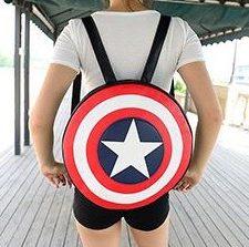 Captain America Rucksack Rücken