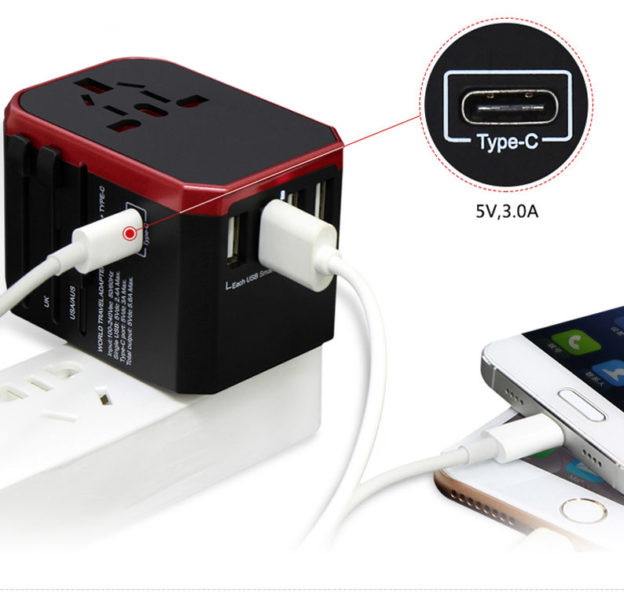 Universal Reiseadapter USB Typ C