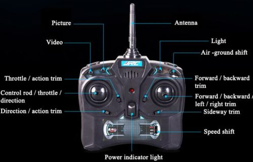 Transmitter des Airphibian Quadcopter