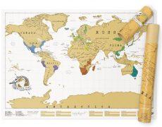 Weltkarte Freirubbeln