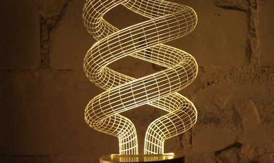 Lampen mit 3d effekt in verschiedenen formen ab 10 53 for Lampen 3d modelle