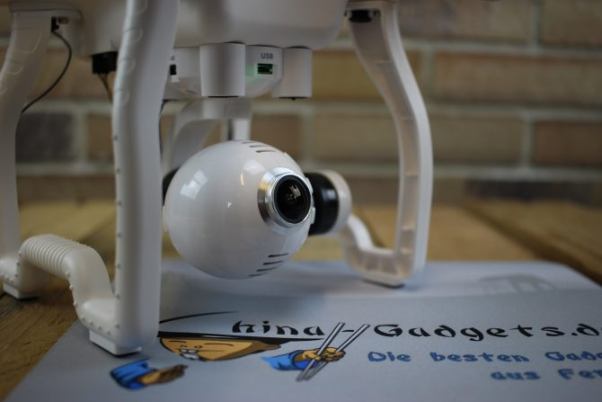 Gimbal & Kamera liegen bei und funktionieren gut