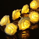 Rosen LED-Lichterkette in verschiedenen Farben ab 2,80€