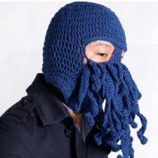 Tentakel Wollmaske in blau