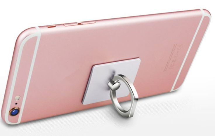 Ringhalterung an der Rückseite des Smartphones