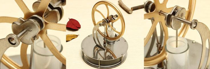 Stirling Motor für die Tasse