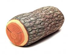 Holzklotz Holz Kissen