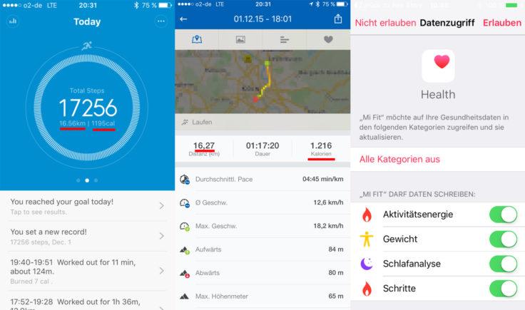 Mi Fit App: auch ohne GPS verdammt genau!