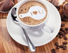 Kaffeeschablone Plastik Latte Art Milchschaum