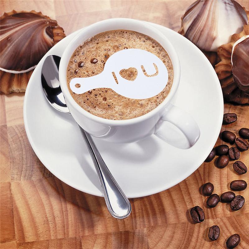 latte art 16 schablonen f r motive auf dem kaffee milchschaum. Black Bedroom Furniture Sets. Home Design Ideas